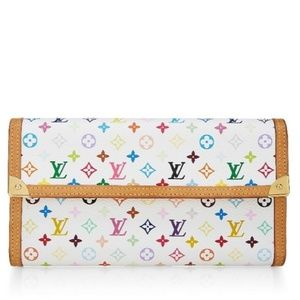 Louis Vuitton Porte Internal Multicolor White Long